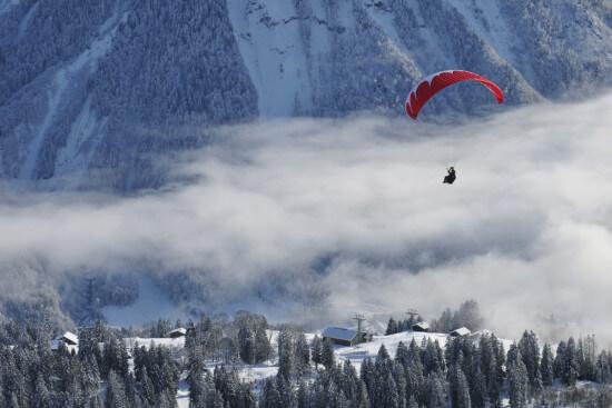 Paragleiten Winterurlaub Skiurlaub Skifahren Skitouren Wagrain Moabauer Salzburger Land