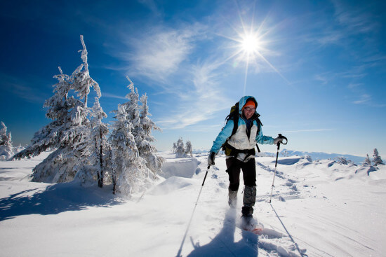 Winterwandern Skitouren Schneeschuhwandern Salzburger Land Winterurlaub Moabauer
